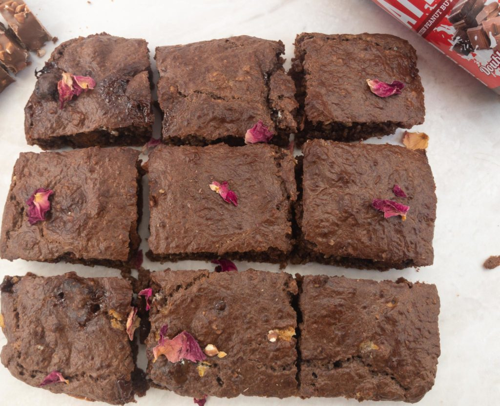 Oatein Peanut Butter Brownies