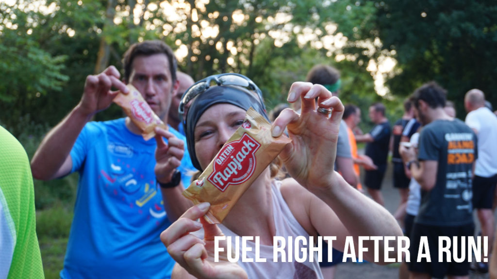 Fuel right after your run, protein flapjack